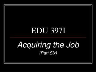 EDU 397I
