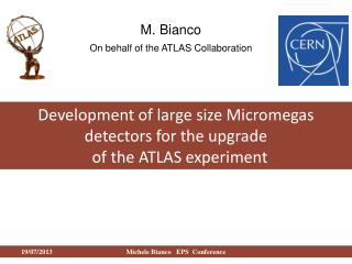 Development of large size  Micromegas  detectors for the upgrade   of the ATLAS experiment