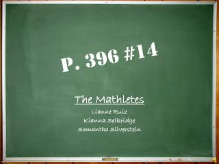 P. 396 #14