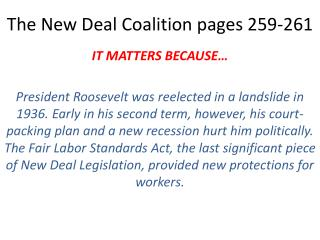 The New Deal Coalition pages 259-261