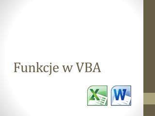 Funkcje w VBA