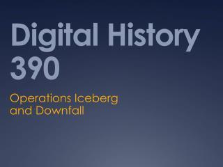 Digital History 390