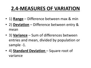2.4-MEASURES OF VARIATION