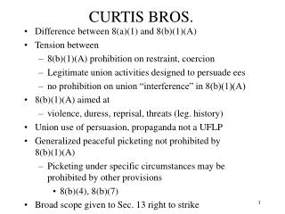 CURTIS BROS.