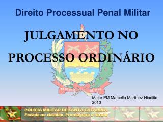JULGAMENTO NO PROCESSO ORDINÁRIO