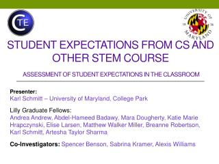 Student Expectations From CS and other STEM Course