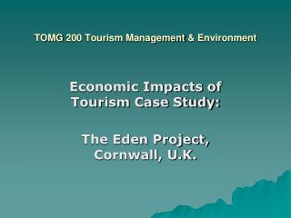 TOMG  200  Tourism  Management  &  Environment