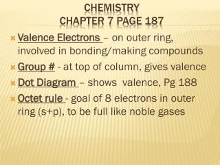 Chemistry  Chapter 7 Page 187