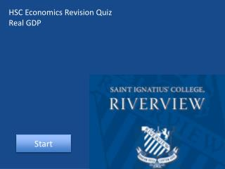 HSC Economics Revision Quiz Real GDP