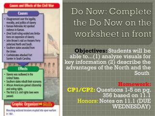 Do Now: Complete the Do Now on the worksheet in front