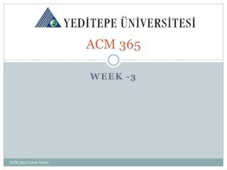 ACM 365