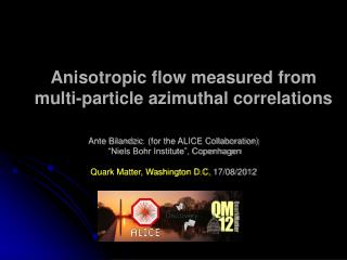 Anisotropic flow measured from  multi-particle  azimuthal correlations