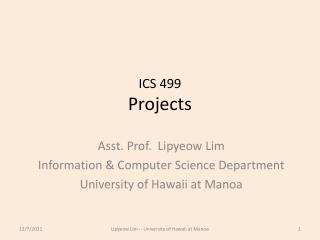 ICS  499 Projects