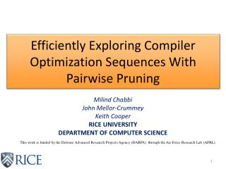 Efficiently Exploring Compiler Optimization Sequences With Pairwise Pruning