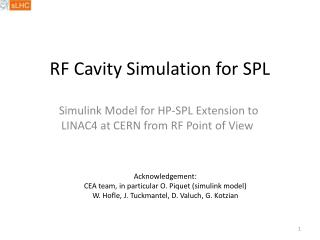 RF Cavity Simulation for SPL
