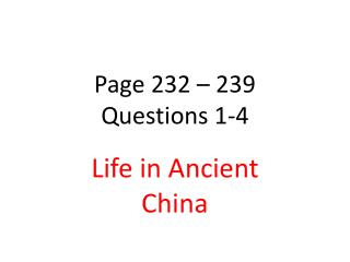 Page 232 – 239  Questions 1-4