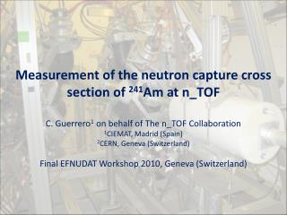 Measurement of the neutron capture cross section of  241 Am at n_TOF
