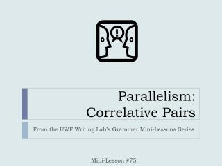 parallelism in writing exercises