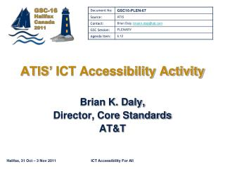 ATIS'  ICT Accessibility Activity