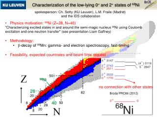 Characterization of the low-lying 0 +  and 2 +  states of  68 Ni