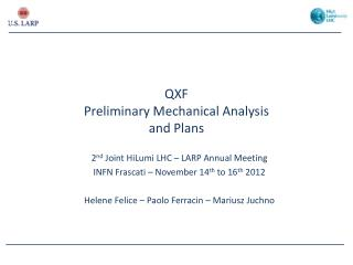QXF Preliminary Mechanical Analysis and Plans