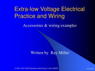 Extra-low Voltage Electrical Practice and Wiring