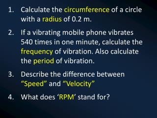 Calculate the  circumference  of a circle with a  radius  of 0.2 m.