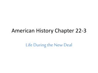 American History Chapter 22-3