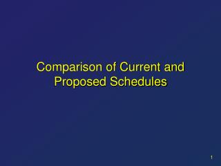 Comparison of Current and Proposed Schedules