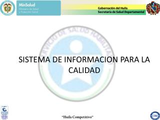 Gobernación del Huila Secretaría de Salud Departamental