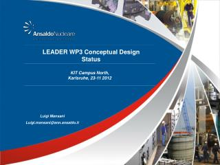 LEADER WP3 Conceptual Design Status