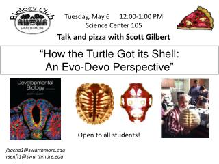 Tuesday, May 6	12:00-1:00  PM Science Center  105