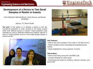 Development of a Device to Test Small Samples of  Resilin  in Insects