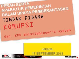 Jakarta, 1 7 SEPTEMBER 2013