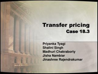 Transfer pricing  Case 18.3