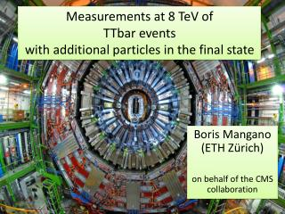 Measurements at 8 TeV of  TTbar events  with  additional particles in the final state