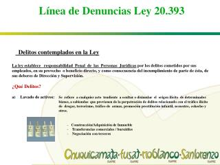 Línea de Denuncias Ley 20.393