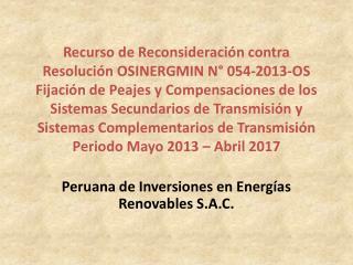 Peruana de Inversiones en Energías Renovables S.A.C.