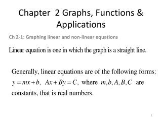 Chapter  2 Graphs, Functions & Applications
