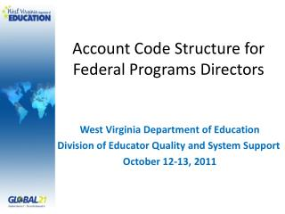 Account Code Structure for Federal Programs Directors
