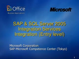 SAP  SQL Server 2005 Integration Services Integration Entry level
