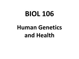 BIOL 106