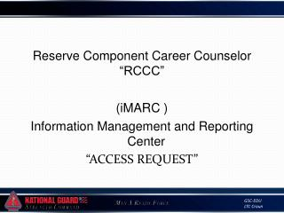 "Reserve Component Career Counselor ""RCCC"""