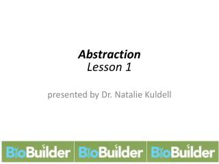 Abstraction Lesson 1