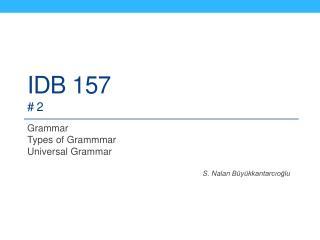 IDB 157 # 2