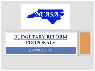 Budgetary REFORM proposals