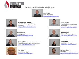 avd 165, Halliburton tillitsvalgte 2014
