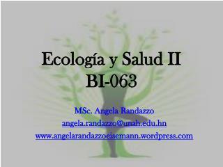 Ecología y Salud II BI-063
