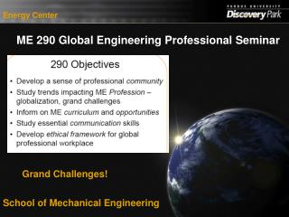 ME 290 Global Engineering Professional Seminar