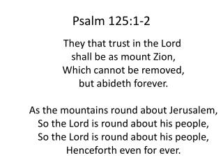 Psalm 125:1-2